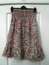 ATMOSPHERE GREEN PINK WHITE COTTON FLORAL PRINT STRAPLESS FLOATY SUMMER DRESS 10