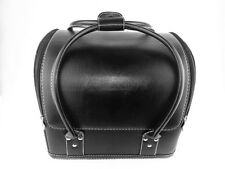 Black Soft Leather Portable Travel Beauty Vanity Case Cosmetic Makeup Nail Box
