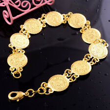 Fashion Coin Design Lady 14k Gold Filled Womens Bracelet Engagement Jewelry Gift