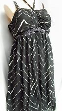 Autorgraph Sunset to sunrise uneven Hi Lo hem DRESS / Skirt black Mono 24 NEW