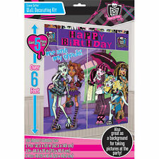 MONSTER HIGH BIRTHDAY PARTY SUPPLIES SCENE SETTER WALL POSTER DECORATIONS