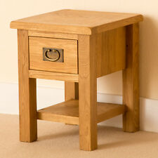 Lanner - Oak Small Lamp Table / Drawer & Shelf / Coffee / End/ Rustic Side Table