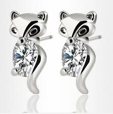 925 silver filled Zircon stud Fox earrings exquisite fashion jewelry Fine gifts