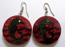 Sea Horse Red Coral Ethnic Earrings Handmade Indonesia