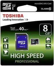 TOSHIBA 8 GB MICROSDHC 8GB MICRO SD SDHC CLASS 10 KARTE SPEICHERKARTE
