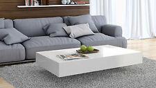 Couchtisch Wohnzimmer Tisch Beistelltisch Kaffeetisch weiß 120, Hochglanz ...