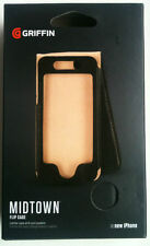 New Iphone 5s Se & 5 Griffin Midtown Flip Wallet Leather Case With Cards Pockets