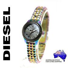 DIESEL Kray Kray Watch - Multi Colour Studded Rainbow Stainless Steel -Boxed NEW