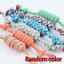 Fun Puppy Dog Pet Chew Toy Cotton Braided Bone Rope Color Chew Knot Tug War Play