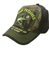 "Fishing Camo Fish Tremble at the sound of my name 'black brim""' Fishing Cap"