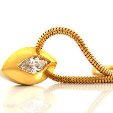 Collier in 750/- Gelb/Weißgold mit  1 Diamanten 0,22 ct. Top Wesselton/VSi NEU