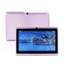 "7"" A33 Quad Core Google Android 4.4 Kitkat Tablet Bluetooth Dual Camera Purple"