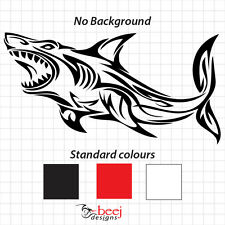 Shark Tribal Sticker Boat Decal Fishing Rod Line Lure Seafood Tank Tackle Reel