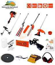 5 in1 52cc Petrol Hedge Trimmer Chainsaw Strimmer Brushcutter Garden Multi Tool!
