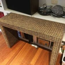 Bermuda Cane / Wicker / Rattan Hall or Entrance Table 1.2m long   AS NEW