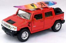 Diecast 1:40 Hummer H2 SUT 2005 with surf board in red