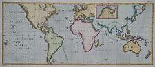 Weltkarte - Winde - Windströmungen - Seybert - Seltener Kupferstich um 1800
