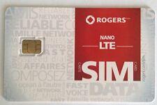 Rogers Nano LTE Sim Card New Unactivated