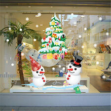 Christmas Window Snowmen Home Room Decor Removable Wall Sticker Decal Decoration