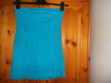 Turquoise sleeveless summer top, DOROTHY PERKINS, size 8