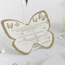 Ivory & GOLD Butterfly SCRATCH CARDs Table TRIVIA Wedding Favour GAME Decoration