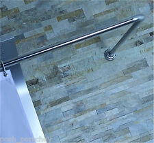 BC NON RUST CHROME ADJUSTABLE 4 WAY U L SHAPE CORNER SHOWER CURTAIN POLE RAIL