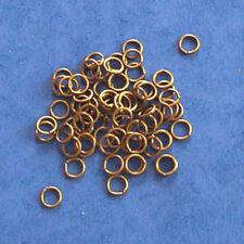 100 antique gold 5mm jump rings, findings for jewellery making crafts