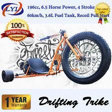 6.5HP FATBOY MOTORISED DRIFT TRIKE HuFFy SLIDER GOKART DRIFTING FULL SIZE