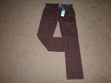 New Adidas originals slim fit cotton straight leg burgundy denim jeans 31W 32L