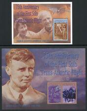 DOMINICA 2002 Charles Lindbergh Erstflug Flugzeuge 3306-3307 + Block 456 ** MNH