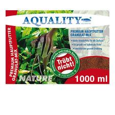 AQUALITY PREMIUM Hauptfutter Granulat MIX 1000 ml Granulatfutter Cichliden