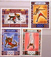 ALGERIA ALGERIEN 1972 583-86 473-76 Olympia Olympics Munich Javelin Sport MNH