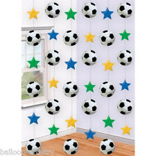 6 Football Soccer 7ft Party String Decorations sports
