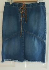 Ladies size 10-12 (EURO 30) LACEUP denim skirt