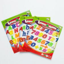 78x Magnetic Capital & Lowercase Alphabet Letters Numbers Fridge Learning Toys