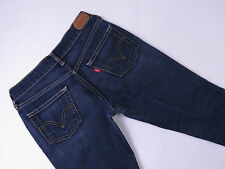 LEVI SLIM STRETCH CROPPED BLUE DENIM JEANS LADIES SIZE 26X29 EX-COND F-119