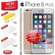 New Sealed Box Factory Unlocked APPLE iPhone 6 Plus + Gold 64GB 4G Smartphone