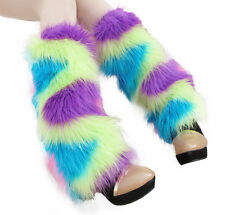40cm Colorful Fluffy Furry Leg Warmers Boots Fluffies Covers Rave Furries