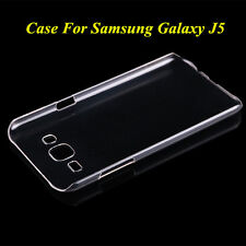 Crystal Clear Glossy Transparent Hard Plastic Case Cover For Samsung Galaxy J5 A