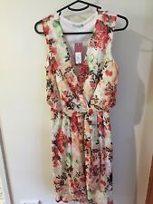 Ladies Mock Wrap Dress Floral Size 10