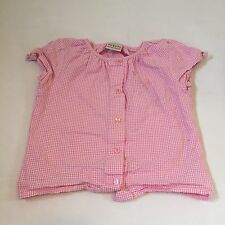 NEXT pink checked summer tunic top girls 3-4 Years clothes -I combine post