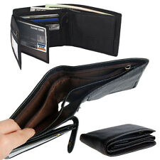 Stylish Men's Genuine Leather Wallet Purse Business Credit Card Holder Bifold