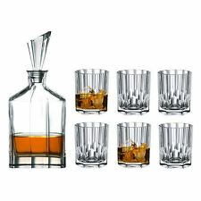 Nachtmann Crystal - Aspen 7 pce Whisky Decanter & Double Old Fashioned set  (Mad