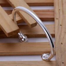 GIFTS FOR MEN New Silver Plated Stainless Steel Fashion Cuff Bangle Bracelet