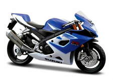 SUZUKI GSX-R 1000 in Blue - 1:18 Die-Cast GSXR Motorbike Model by Maisto - New