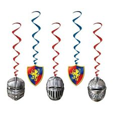 Medieval Hanging Whirls - Pack of 5 - Knights / Armour Party Ceiling Decorations
