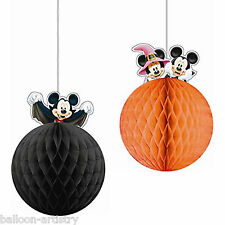2 Halloween Disney Mickey Mouse Party Hanging Honeycomb Balls Decorations