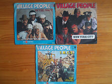 "7"" VILLAGE PEOPLE : Y.M.C.A. + IN THE NAVY 3 VINYL SINGLE SAMMLUNG LOT JUKEBOX"