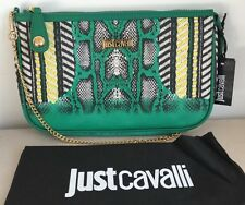 Just Cavalli Faux Leather Snake Print Shoulder Bag - New With Tags And Dust Bag