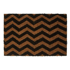 Chevron Coir Doormat Large Non Slip Rubber Outdoor Front Door Dirt Trapper Mat